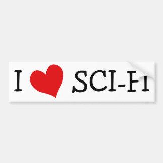 J'aime la science fiction autocollant de voiture