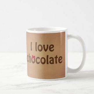 J'aime la texture de barre de chocolat mug blanc
