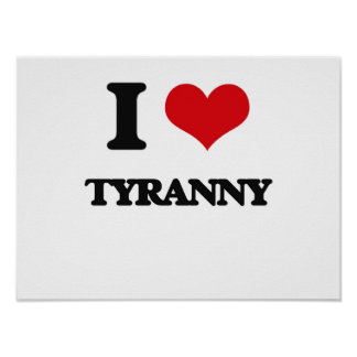 J'aime la tyrannie poster