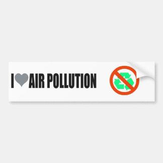 J'aime l'adhésif pour pare-chocs de Pro-Pollution Autocollant De Voiture