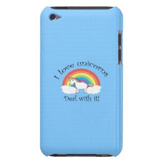 J'aime l'affaire de licornes avec elle bleue étuis barely there iPod