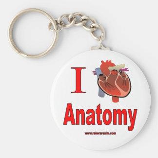 J'aime l'anatomie porte-clés