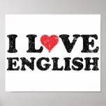 J'aime l'anglais poster