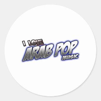 J'aime l'ARABE arabe POP de musique pop Autocollant Rond