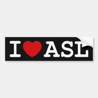J'aime l'ASL Autocollant De Voiture