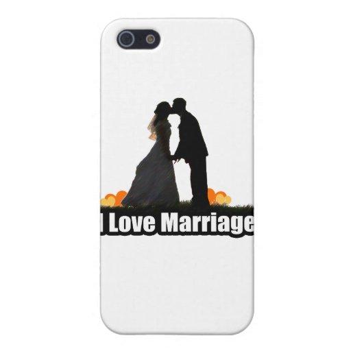 J'aime le baiser de mariage la jeune mariée coques iPhone 5