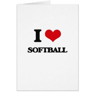 J'aime le base-ball carte de vœux