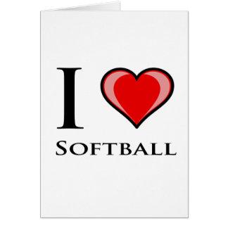 J'aime le base-ball carte