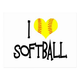 J'aime le base-ball carte postale