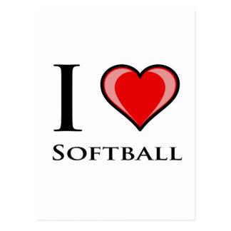 J'aime le base-ball cartes postales