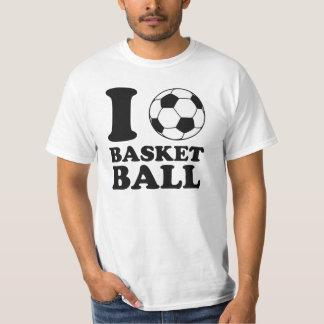 J'aime le basket-ball de ballon de football tee shirt