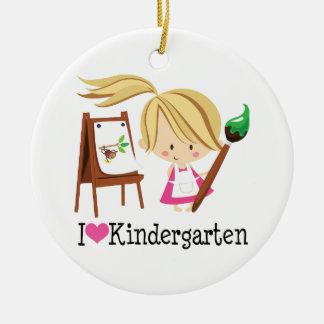 J'aime le cadeau de jardin d'enfants ornement de noël