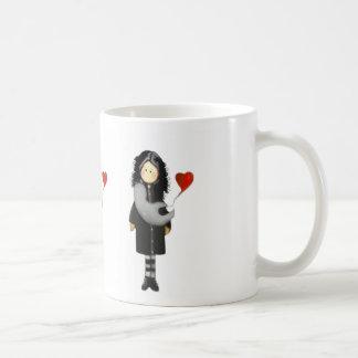 J'aime le café mug blanc