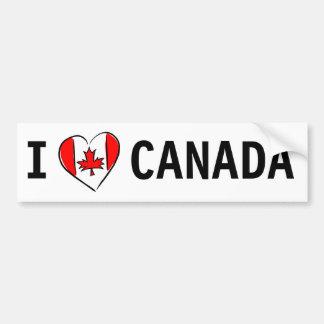 J'aime le Canada Autocollant De Voiture
