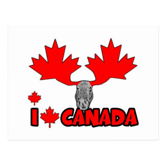J'aime le Canada Carte Postale