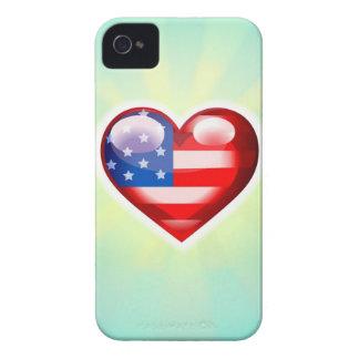 J'aime le cas de l'iPhone 4 de l'Amérique Coques Case-Mate iPhone 4