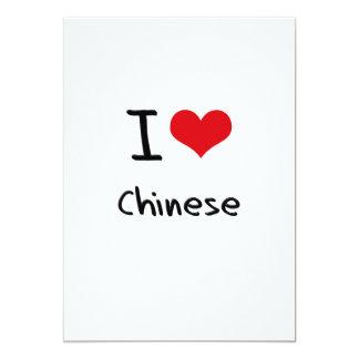 J'aime le chinois invitations personnalisables