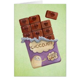 J'aime le chocolat carte de vœux
