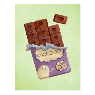 J'aime le chocolat carte postale