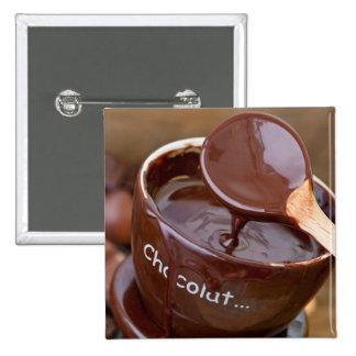 J'aime le chocolat macaron carré 5 cm
