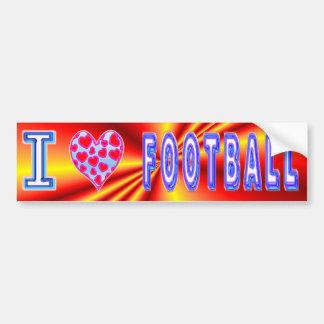 J'aime le football autocollant de voiture