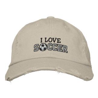 J'aime le football casquette de baseball brodée