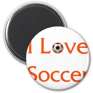J'aime le football magnet rond 8 cm