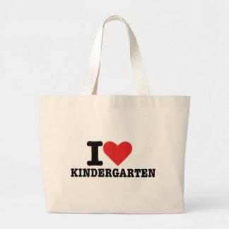 J'aime le jardin d'enfants sacs fourre-tout