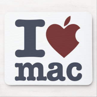 J'aime le Mac Tapis De Souris