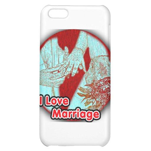 J'aime le mariage engagé coque iPhone 5C