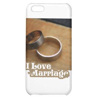 J'aime le mariage que les anneaux satisfont étuis iPhone 5C