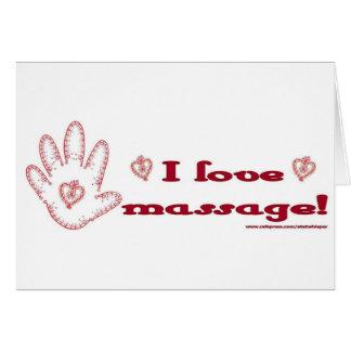 J'aime le massage ! carte de vœux
