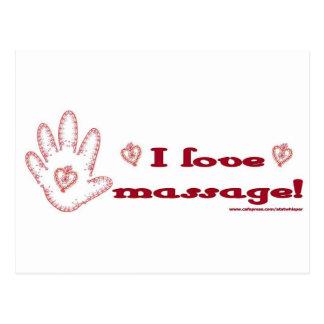 J'aime le massage ! cartes postales