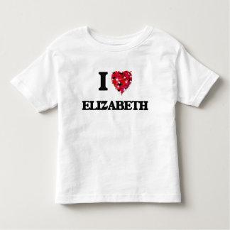 J'aime le New Jersey d'Elizabeth Tee Shirts