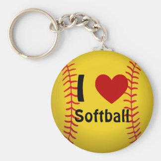 J'aime le porte - clé du base-ball porte-clé rond