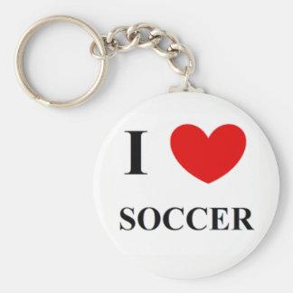 J'aime le porte - clé du football porte-clés