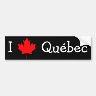 J'aime le Québec Autocollant De Voiture
