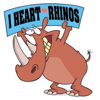 J'AIME le rhinocéros de bande dessinée de RHINOCÉR Photo En Relief