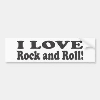 J'aime le rock ! autocollant de voiture