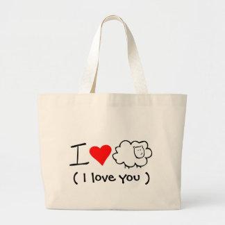 J'aime le sac fourre - tout à brebis (vous)
