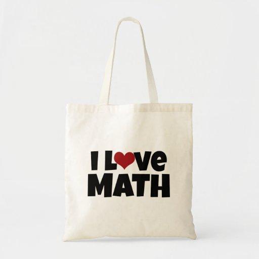 J'aime le sac fourre-tout à maths