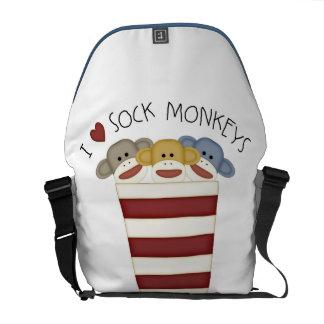 J'AIME le sac messenger à Rickshaw de singes de ch Sacoche