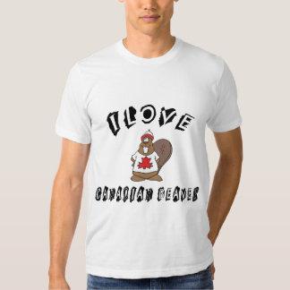 J'aime le T-shirt canadien de castor