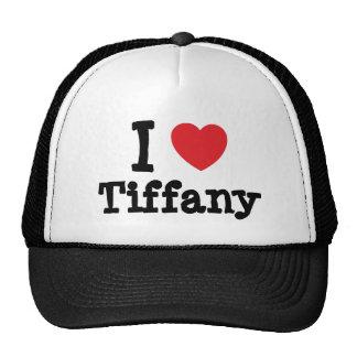 J'aime le T-shirt de coeur de Tiffany Casquette De Camionneur
