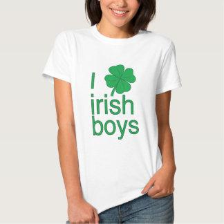 J'aime le T-shirt irlandais de garçons