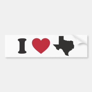 J'aime le Texas Autocollant De Voiture