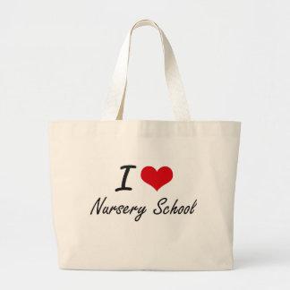 J'aime l'école maternelle sac en toile jumbo
