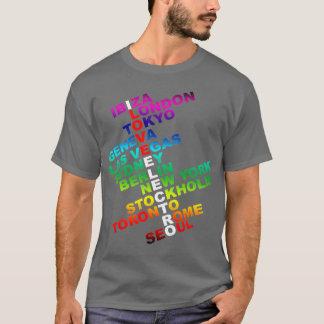J'aime l'électro dans le monde entier t-shirt