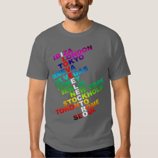 J'aime l'électro dans le monde entier tee shirts
