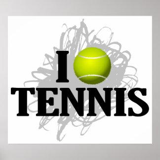 J'aime l'emblème de tennis poster